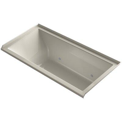 Underscore Alcove Vibracoustic 60 x 30 Whirpool Bathtub Finish: Sandbar