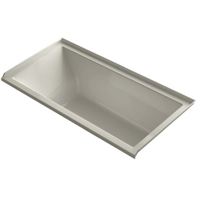 Underscore Alcove Vibracoustic 60 x 30 Soaking Bathtub Finish: Sandbar