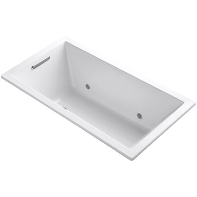 Underscore Vibracoustic 60 x 32 Whirpool Bathtub Finish: White