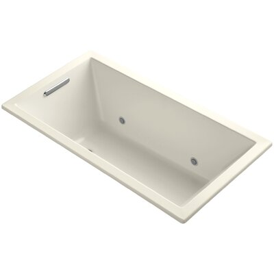 Underscore Vibracoustic 60 x 32 Whirpool Bathtub Finish: Almond