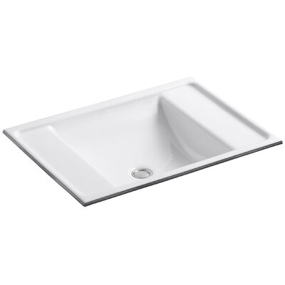 Ledges Rectangular Undermount Bathroom Sink Sink Finish: White