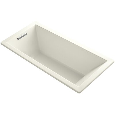 Underscore 66 x 32 Soaking Bathtub Finish: Biscuit