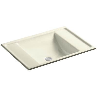 Alteo Metal Rectangular Undermount Bathroom Sink with Overflow Sink Finish: Cane Sugar