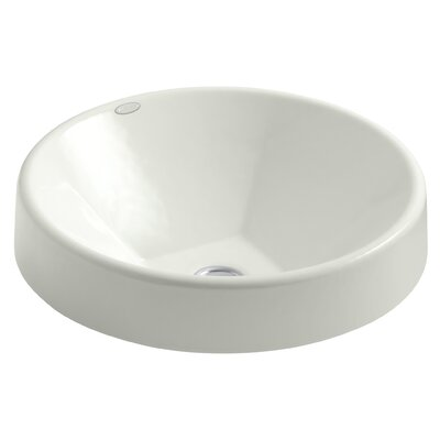 Inscribe Wading Pool Metal Circular Vessel Bathroom Sink Sink Finish: Dune