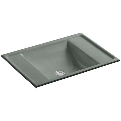 Alteo Metal Rectangular Undermount Bathroom Sink with Overflow Sink Finish: Basalt