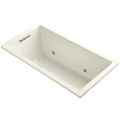 Underscore Vibracoustic 60 x 32 Whirpool Bathtub Finish: Biscuit