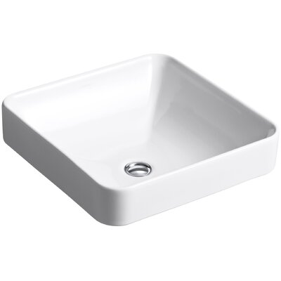 Vox Square Vessel Bathroom Sink Finish: White