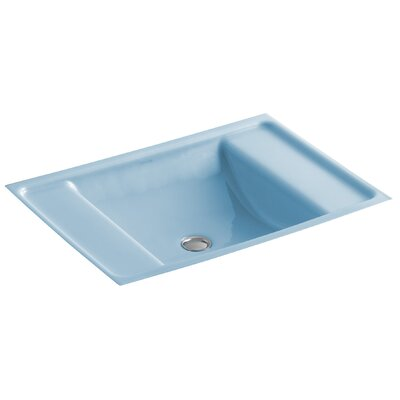 Alteo Metal Rectangular Undermount Bathroom Sink with Overflow Sink Finish: Vapour Blue