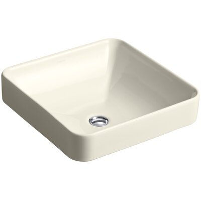 Vox Square Vessel Bathroom Sink Finish: Almond