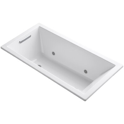 Underscore Vibracoustic 60 x 30 Whirpool Bathtub Finish: White