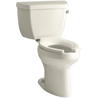 Highline Classic Comfort Height Two-Piece Elongated 1.6 GPF Toilet with Pressure Lite Flush Technology, Right-Hand Trip Lever and Tank Cover Locks Finish: Almond
