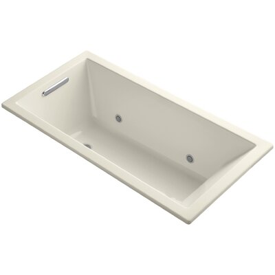 Underscore Alcove Vibracoustic 60 x 30 Whirpool Bathtub Finish: Almond