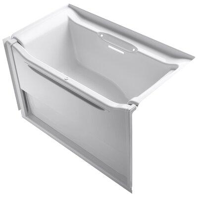 Elevance 60 x 34 Soaking Bathtub Finish: White, Drain Location: Right