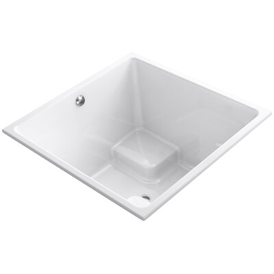 Underscore 48 x 48 Drop-in Bathtub with Bask Heated Surface and Center Drain Finish: White