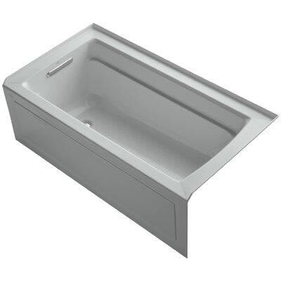 Archer 60 x 32 Soaking Bathtub Finish: Ice Grey, Drain Location: Left