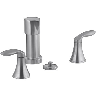 Coralais Vertical Spray Bidet Faucet with Lever Handles Finish: Brushed Chrome
