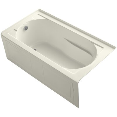 Devonshire 60 x 32 Soaking Bathtub Finish: Biscuit, Drain Location: Left