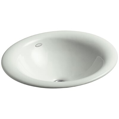 Iron Bell Metal Oval Vessel Bathroom Sink Sink Finish: Sea Salt