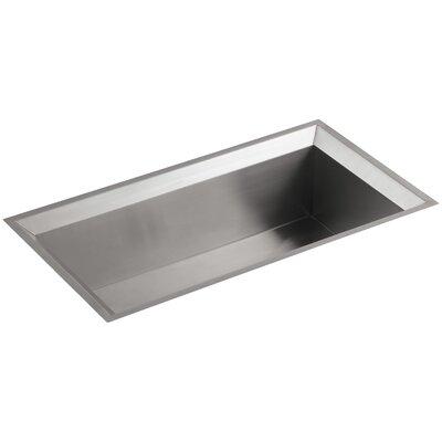 Poise 33 x 18 x 9-3/4 Under-Mount Single-Bowl Kitchen Sink with Mirror Finished Rim Finish: Standard