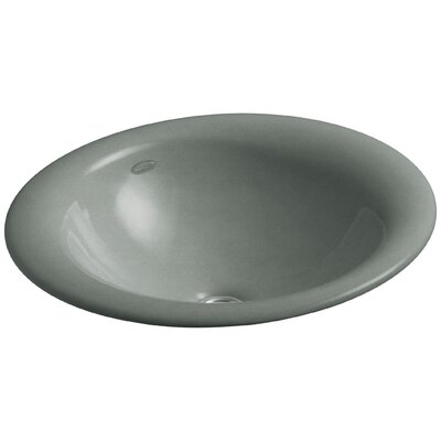 Iron Bell Oval Vessel Bathroom Sink Sink Finish: Basalt