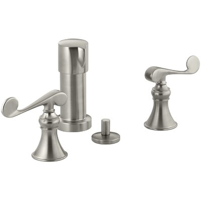 Revival Vertical Spray Bidet Faucet with Scroll Lever Handles Finish: Vibrant Brushed Nickel