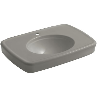 Bancroft� Ceramic 31 Pedestal Bathroom Sink with Overflow Sink Finish: Cashmere, Faucet Mount: Single