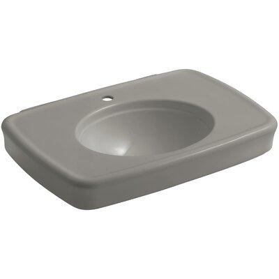 Bancroft� Ceramic 31 Pedestal Bathroom Sink with Overflow Sink Finish: Cashmere, Faucet Mount: 8 Widespread
