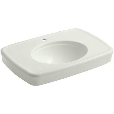 Bancroft� Ceramic 31 Pedestal Bathroom Sink with Overflow Sink Finish: Dune, Faucet Mount: Single