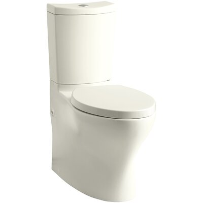 Persuade Comfort Height 2 Piece 1.6 GPF Elongated Toilet Finish: Biscuit