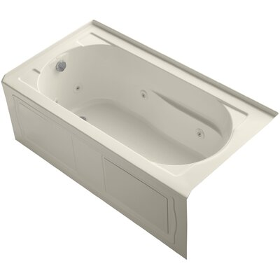 Devonshire Alcove 60 x 32 Whirpool Bathtub Finish: Almond