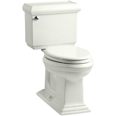 Memoirs Classic Comfort Height Two-Piece Elongated 1.28 GPF Toilet with Aquapiston Flush Technology, Left-Hand Trip Lever and Insuliner Tank Liner Finish: Dune