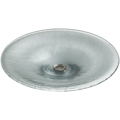 Vessels Glass Circular Vessel Bathroom Sink Finish: Ice