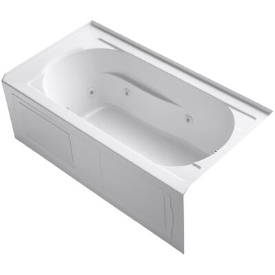 Devonshire Alcove 60 x 32 Whirpool Bathtub Finish: White