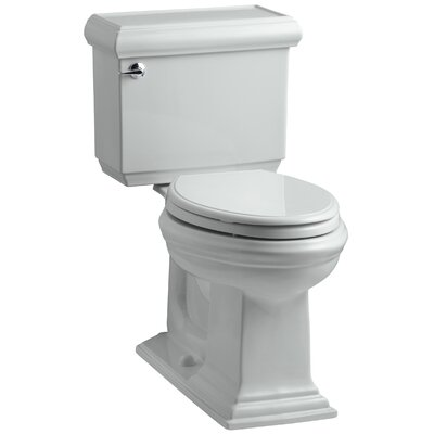 Memoirs Classic Comfort Height Two Piece Elongated 1.6 GPF Toilet with Aquapiston Flush Technology and Left-Hand Trip Lever Finish: Ice Grey