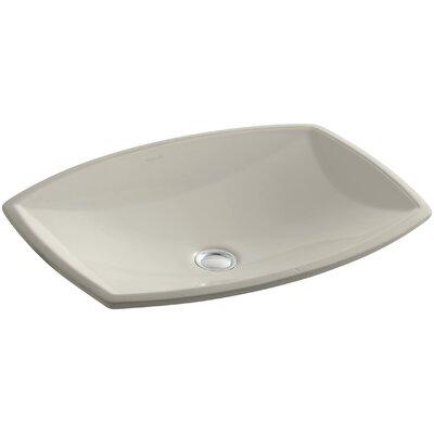 Kelston� Ceramic Rectangular Undermount Bathroom Sink with Overflow Sink Finish: Sandbar