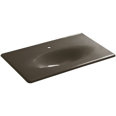 Iron Impressions 38 Single Bathroom Vanity Top Top Finish: Suede, Faucet Hole Style: 8 Widespread