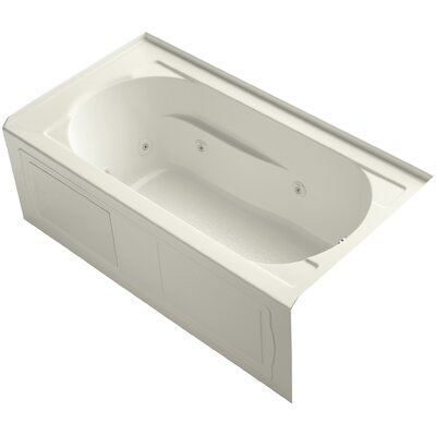 Devonshire Alcove 60 x 32 Whirpool Bathtub Finish: Biscuit