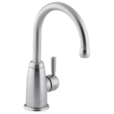 Wellspring Bar Faucet with Contemporary Design Finish: Brushed Chrome