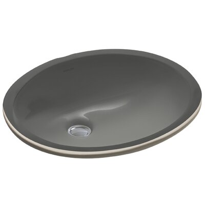 Caxton Oval Undermount Bathroom Sink with Overflow Sink Finish: Thunder Grey