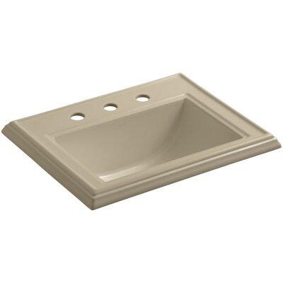 Memoirs� Ceramic Rectangular Drop-In Bathroom Sink with Overflow Finish: Mexican Sand, Faucet Hole Style: Single