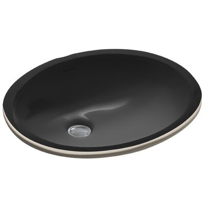Caxton Oval Undermount Bathroom Sink with Overflow Sink Finish: Black Black