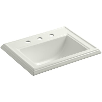 Memoirs Classic Self Rimming Bathroom Sink 8 Finish: Dune, Faucet Hole Style: 8 Widespread