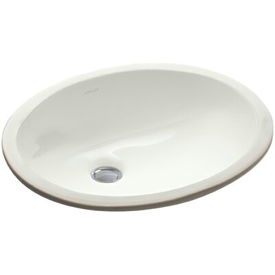 Caxton Ceramic Oval Undermount Bathroom Sink with Overflow Sink Finish: Dune