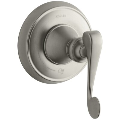 Revival Valve Trim with Scroll Lever Handle for Volume Control Valve, Requires Valve Finish: Vibrant Brushed Nickel
