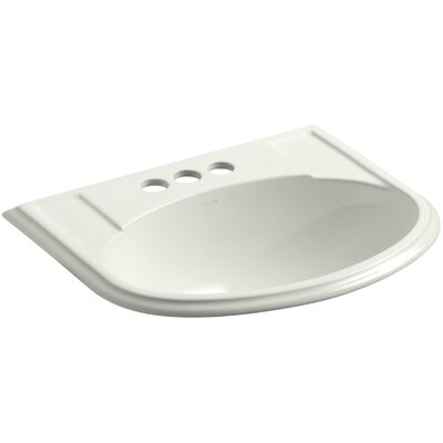 Devonshire� Ceramic U-Shaped Drop-In Bathroom Sink with Overflow Finish: Dune