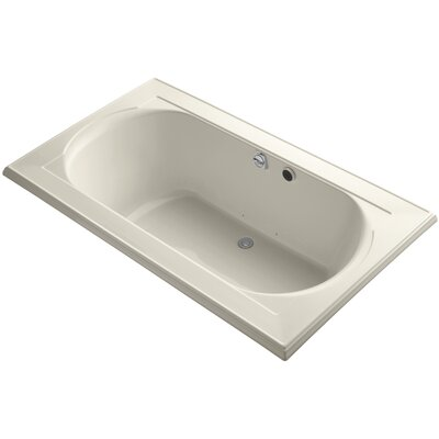 Memoirs Bubblemassage 72 x 42 Soaking Bathtub Finish: Almond