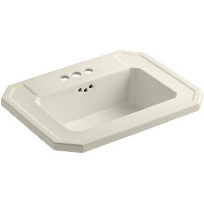 Kathryn Self Rimming Bathroom Sink 4 Finish: Almond