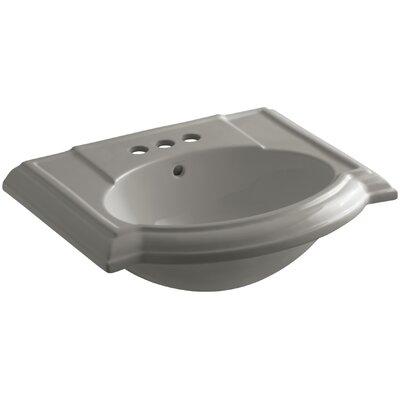 Devonshire� Ceramic 24 Pedestal Bathroom Sink with Overflow Finish: Cashmere