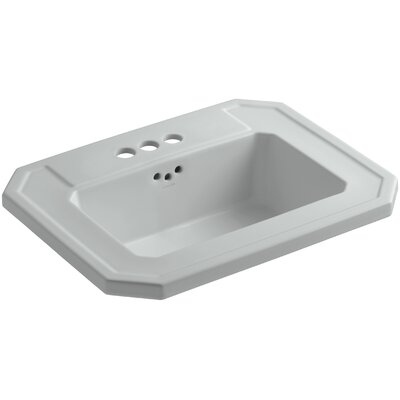 Kathryn� Ceramic Rectangular Drop-In Bathroom Sink with Overflow Finish: Ice Grey