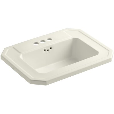 Kathryn Self Rimming Bathroom Sink 4 Finish: Biscuit